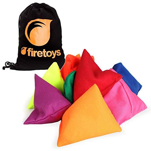 Firetoys Tri-it Juggling Beanbag Set, 3 Tri-it Sacks & Firetoys Cotton Drawstring Bag! Several Colors (Yellow)]()