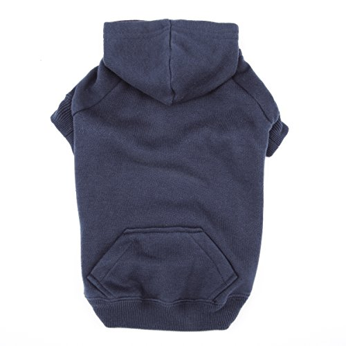 "Casual Canine Basic Hoodie for Dogs, 16"" Medium, Navy Blue"