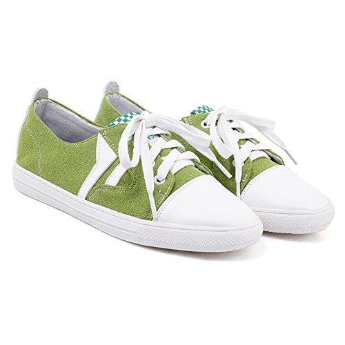 Mujer Green Sneaker Zapatos RAZAMAZA Cordones YqzqR
