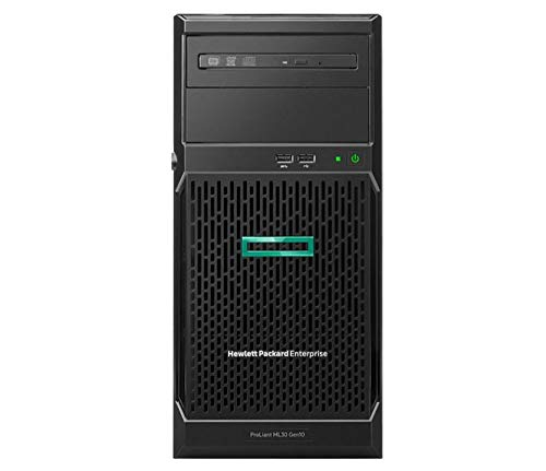 HPE ProLiant ML30 Gen10 Tower Server, Intel Xeon E-2124 Quad-Core 3.3GHz 8MB, 32GB DDR4 RAM, 4TB SSD, RAID, iLO 5
