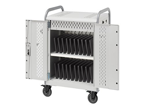 Bretford Pulse 20L 20-Unit Device Cart - Concrete Powder