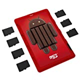 DiMeCard micro8 microSD Memory Card Holder ANDROID KITKAT EDITION (Ultra thin credit card size holder, writable label)