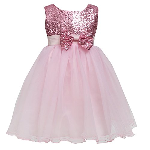 Baby Kids Girls Princess Sequins Pageant Tulle Gown Dress - 1