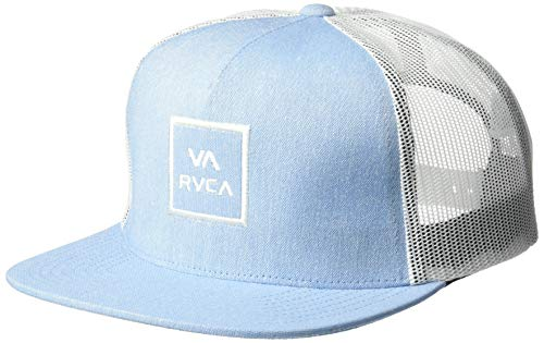 RVCA Men's VA All The Way MESH Back Trucker HAT, Heather Blue, One Size