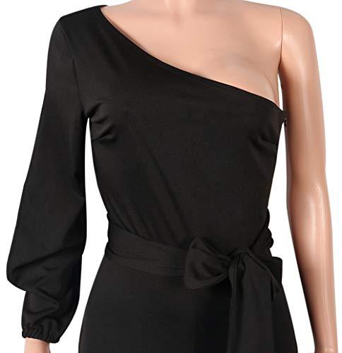 6b76ab1529b Voghtic Women s Elegant One Shoulder Long Sleeve Jumpsuits - Import It All