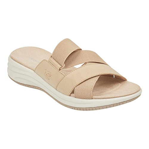 Easy Spirit Drones Women's Comfort Slide Sandal (7.5 B(M) US, Light Natural) by Easy Spirit