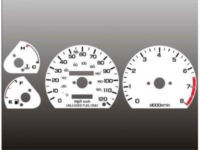 1985-1987 Honda Civic CRX White Face Gauges 85-87