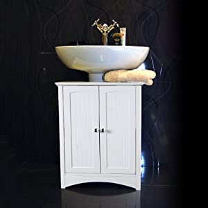 White Under Sink Bathroom Storage Cabinet Kitchen Home