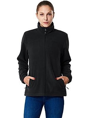 Baleaf Women's Outdoor Full-Zip Thermal Fleece Jacket