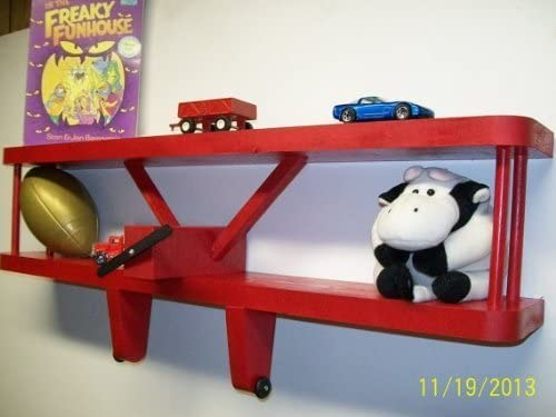 RED Airplane Wall Decoration Shelf