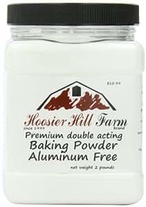 Hoosier Hill Farm Double Active Baking Powder Aluminum Free 2 lb