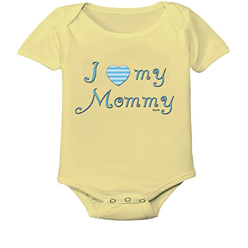 I Love My Mommy Custom Boutique Baby Bodysuit Onesie. Yellow]()