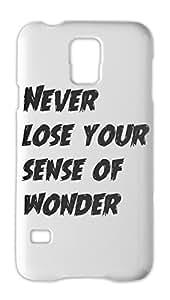 Never lose your sense of wonder Samsung Galaxy S5 Plastic Case