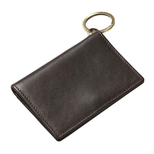 Clava Mens Wallet - Executive Leather ID/Keychain Wallet (cafe)