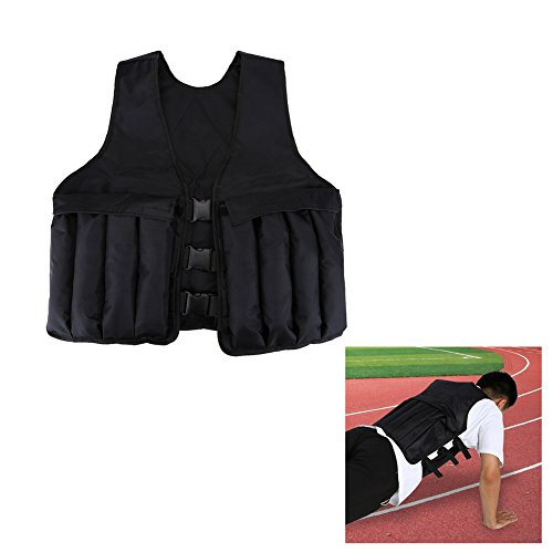 Weight Training Vest Adjustable Weighted Vest for Strength Training Exercise Workout Fitness Sports by Vbestlife