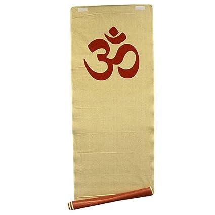 Esterilla de Yoga Yute Om Rojo 180 X 57 Cm: Amazon.es ...