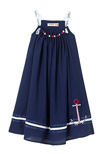 18sgvw23 Courte 11 5003 Fille Abiyan Robe 12 Desigual bleu Ans Vest awXxB