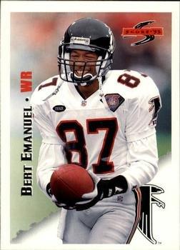 Atlanta Falcons Nfl Card Score - Bert Emanuel 1995 Score NFL Football Card #130 Atlanta Falcons