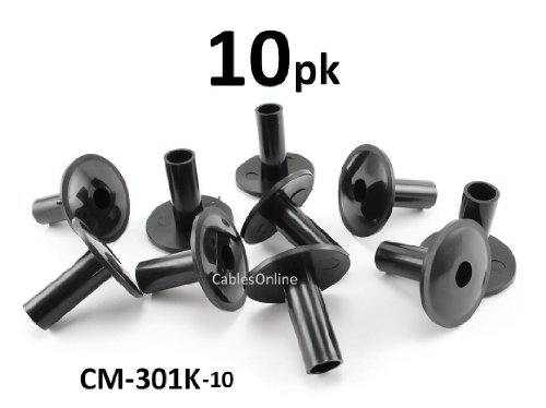 (CablesOnline 10-PACK Coaxial Cable Feed-Through Wall Protector Bushing (CM-301K-10))