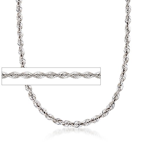 Ross-Simons 5.8mm Sterling Silver Rope Chain Necklace by Ross-Simons