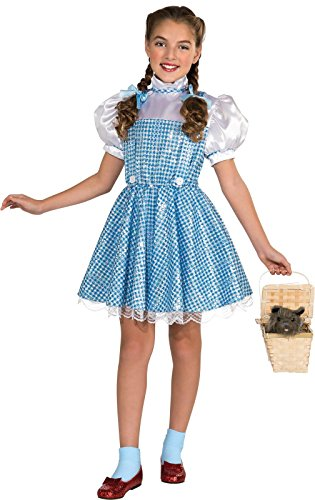 Wizard of Oz Child's Deluxe Sequin Dorothy Costume, (Sequined Dorothy Costumes)