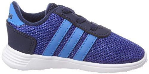 adidas Unisex Baby Lite Racer Sneaker Blau (Collegiate Navy/Solar Blue/Collegiate Royal)
