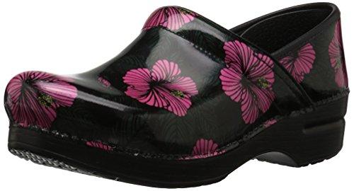 Dansko Women's Professional Clog, Pink Hibiscus Patent, 37 M EU ()