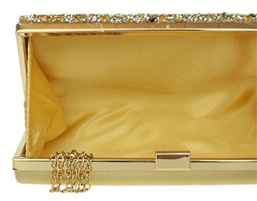 Girly pour Handbags Pochette femme Doré wzwZA7qr