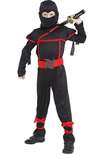 Ninja Dress Up Ideas (Kid's Halloween Party Dress Up Stealth Ninja Cosplay Costume Fullbody Jumpsuit)