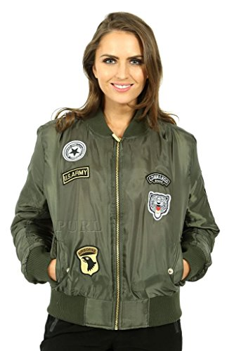 MKL - Chaqueta - para mujer Badge-Khaki