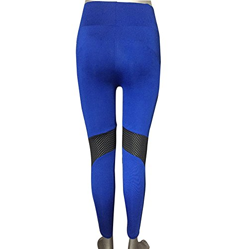 ❤️❤️AOmahh❤️❤️ Women's High Waist Sports Gym Yoga Pants,Stitching Long Section Stretch Leggings Yoga Pants Sports Pants Trouser (S, Blue) by ❤️❤️AOmahh❤️❤️ (Image #5)