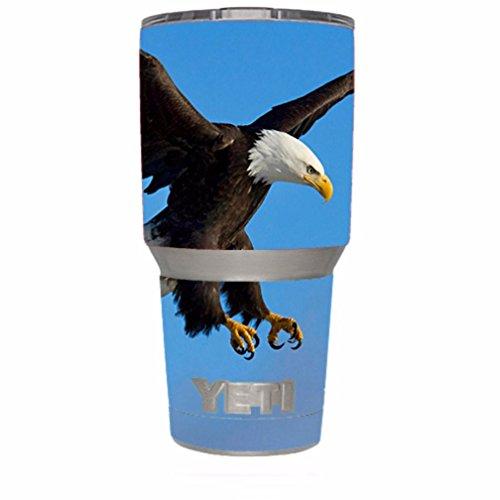 Skin Decal Vinyl Wrap for Yeti 30 oz Rambler Tumbler / Bald Eagle in Flight,Hunting