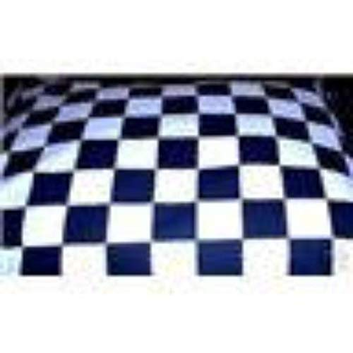 Checkered Flag Race Car Black White Pillowcase Pillow Case Black Standard, (Queen or King available upon email request) (Nascar Pillowcase Standard)