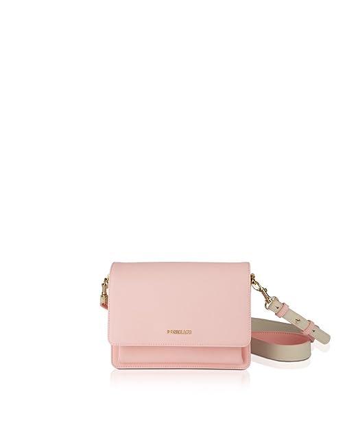 4ec22c2b58 POMIKAKI Borsa a Tracolla in Pelle Saffiano Sintetica SIMONETTA Pink:  Amazon.it: Abbigliamento