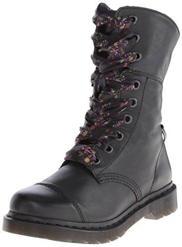 Dr. Martens Women's Aimilita 9 Eye Toe Cap Boot,Black,3 UK/5 M US by Dr. Martens