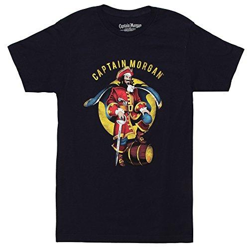 Captain Morgan Logo Adult T-shirt - Navy (X-Large)