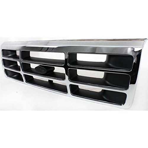 Bronco Assembly Grille Ford 96 (Diften 102-A0573-X01 - New Grille Assembly Chrome shell black insert Bronco 96 1996 FO1200173 F4TZ8200A)