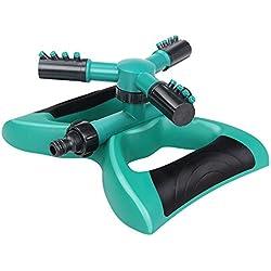 LT&PK Lawn Sprinkler, Garden Sprinkler 360° Automatic Rotating Adjustable Watering Sprinkler Lawn Irrigation System