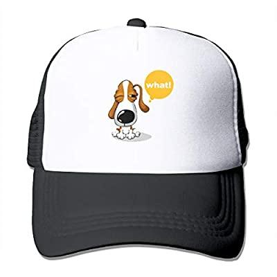 Trucker Hat Summer Mesh Cap Adjustable Snapback Strap Printed with Pet Red Dogs, Pet, Dog, Cartoon