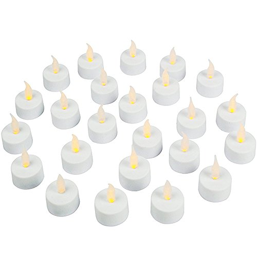 Flameless LED Tea Light Candles, Realistic, Battery Powered, Unscented LED Candles, Fake Candles, Tealights (24 Pack) – Vont