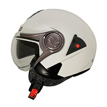 CASCO SHIRO JET SH-80 NAKED BLANCO PERLA