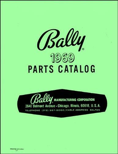 (1969 Bally Pinball Machine Coin-Op Game Parts Manual Catalog)