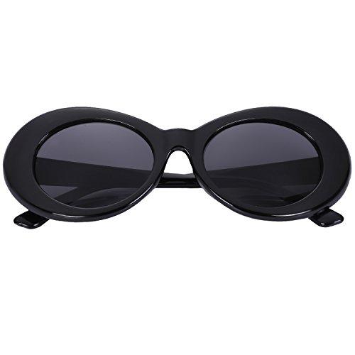 Gafas S17022 de mujer de UV400 Blanco de Gafas ovales retro vintage hombre TOOGOO Gafas de Gafas masculino moda de de sol Negro femenino sol sol dgw5vqnpx