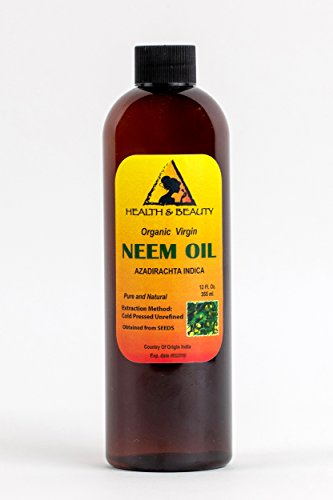 Neem Oil Organic Unrefined Concentrate Virgin Raw Cold Pressed Pure 24 oz