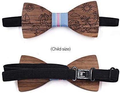 Corbatas de lazo para hombre Corbata de lazo de madera para niños ...