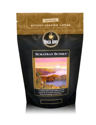Decaf Sumatra, Sumatran Sunset, 100% Specialty Arabica Coffee, Medium Roast, Ground, 8oz (2 Pack) ()