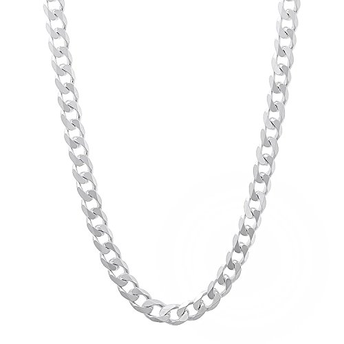 Italian Sterling Silver Curb Chain - 3.5mm - 24