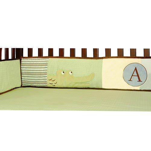 Laugh Giggle & Smile ABC Animal Friends 4 Piece Bumper Pad (Giggles 4 Piece Crib Bedding Set)