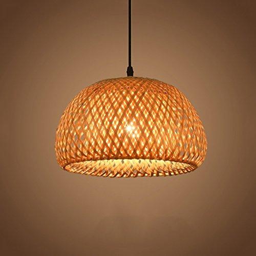 DIDIDD Estilo japonés arte minimalista techo de bambú nórdico de ahorro de energía colgante de luz cortina creativa sala de estar restaurante lámparas de araña