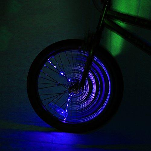 Spoke Brightz LED Bicycle Spoke Accessory, Purple